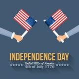 De achtergrond van de onafhankelijkheid Day Vector Illustratie
