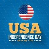 De achtergrond van de onafhankelijkheid Day Stock Illustratie