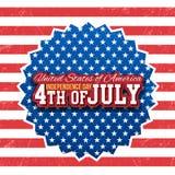 De achtergrond van de onafhankelijkheid Day Royalty-vrije Illustratie