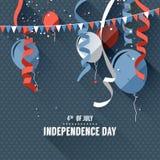 De achtergrond van de onafhankelijkheid Day Royalty-vrije Stock Afbeeldingen