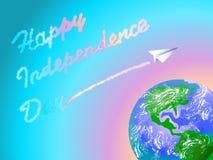 De achtergrond van de onafhankelijkheid Day Stock Afbeeldingen