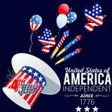 De achtergrond van de onafhankelijkheid Day Stock Foto