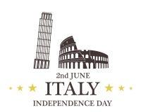 De achtergrond van de onafhankelijkheid Day Italië vector illustratie