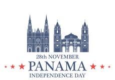 De achtergrond van de onafhankelijkheid Day panama royalty-vrije illustratie