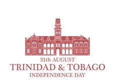 De achtergrond van de onafhankelijkheid Day Trinidad en Tobago stock illustratie
