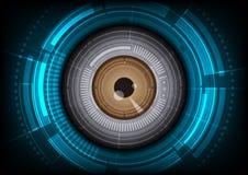 De achtergrond van de oogappeltechnologie Stock Foto's