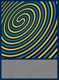 De Achtergrond van de optische illusie Stock Foto
