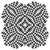 De Achtergrond van de optische illusie Stock Afbeeldingen