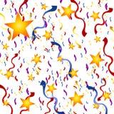 De Achtergrond van de Oudejaarsavond van de Sterren van confettien Stock Afbeelding
