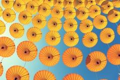 De Achtergrond van de parapluhemel Stock Afbeelding