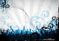 De achtergrond van de partij en bloemenontwerp stock illustratie