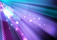 De achtergrond van de partij en van de disco - straallicht Stock Foto