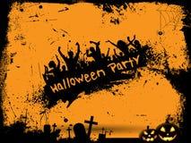 De Achtergrond van de Partij van Halloween van Grunge Royalty-vrije Stock Foto's