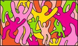 De achtergrond van de partijkleur royalty-vrije illustratie
