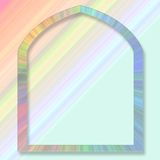 De achtergrond van de pastelkleur met frame Vector Illustratie
