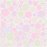 De achtergrond van de pastelkleurcirkel Stock Afbeelding