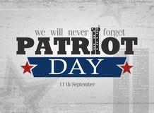 De achtergrond van de patriotdag Royalty-vrije Stock Afbeeldingen