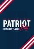 De achtergrond van de patriotdag 11 september Wij zullen nooit vergeten royalty-vrije illustratie