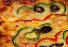 De Achtergrond van de pizza Stock Foto