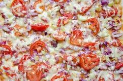 De Achtergrond van de pizza Stock Afbeelding