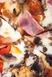 De achtergrond van de pizza Stock Foto's