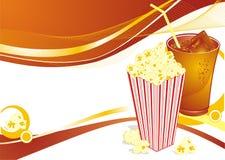 De achtergrond van de popcorn Stock Foto