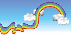 De achtergrond van de regenboog Royalty-vrije Stock Afbeelding