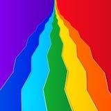 De achtergrond van de regenboog Royalty-vrije Stock Afbeeldingen