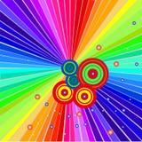 De achtergrond van de regenboog Royalty-vrije Stock Foto's