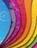 De achtergrond van de regenboog met golf Stock Afbeeldingen