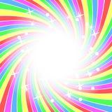 De achtergrond van de regenboog met sterren royalty-vrije illustratie
