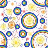De achtergrond van de regenboog. Naadloos. Stock Foto