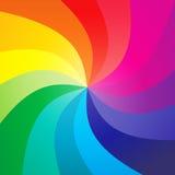 De achtergrond van de regenboog swirly Stock Afbeelding