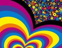 De Achtergrond van de bloemregenboog stock fotografie