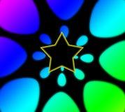 De Achtergrond van de Regenboog van de superster Stock Afbeelding