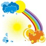 De achtergrond van de regenboog - vector Stock Fotografie