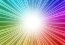 De achtergrond van de regenboogcirkel Royalty-vrije Stock Afbeeldingen