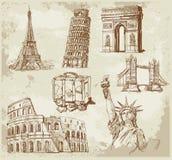 De achtergrond van de reis royalty-vrije illustratie