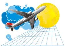 De achtergrond van de reis - vector Stock Foto's