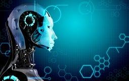 De achtergrond van de Robot van de computer Stock Afbeeldingen