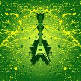 De achtergrond van de rock - gitaar Royalty-vrije Stock Afbeeldingen
