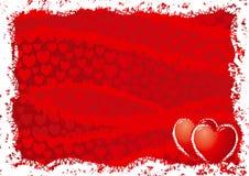 De achtergrond van de rode kaart voor de dag van de valentijnskaart vector illustratie