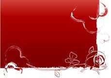 De achtergrond van de rode valentijnskaart Stock Foto's