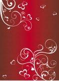De achtergrond van de rode Valentijnskaart Stock Afbeeldingen