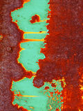 De achtergrond van de roest Groen en bruin royalty-vrije stock foto