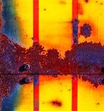 De achtergrond van de roest Groen en bruin royalty-vrije stock fotografie