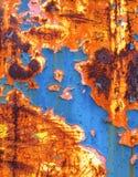 De achtergrond van de roest Groen en bruin royalty-vrije stock afbeelding