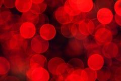 De Achtergrond van de Rood lichten van Defocused Royalty-vrije Stock Foto