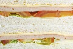 De Achtergrond van de sandwich Stock Afbeelding