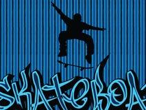 De achtergrond van de schaatser Stock Foto's